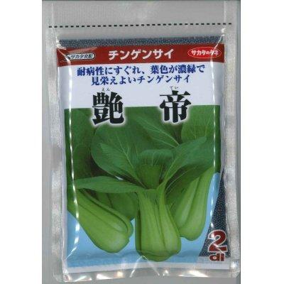 画像1: [中国野菜] 送料無料! チンゲンサイ 艶帝 2dl  サカタ交配