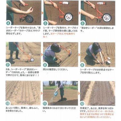 画像3: 送料無料! 農機具 シーダーテープ播種機 楽まきシーダー
